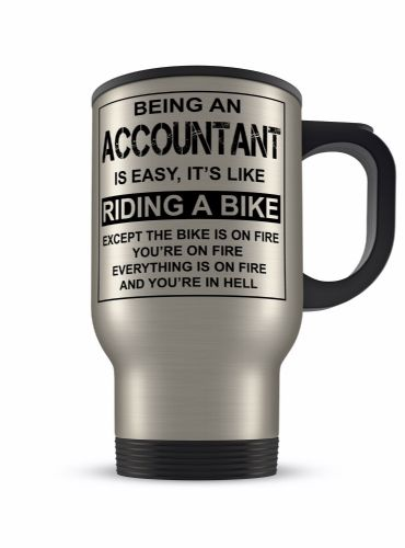 14oz Is Easy Its Like Riding A Bike Funny Novelty Gift Aluminium Travel Mug